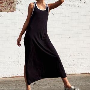 Sundry Black and White Ringer Maxi Dress NWT
